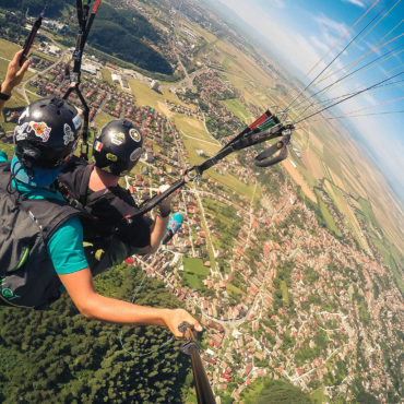 Tandem Skydiving Couple